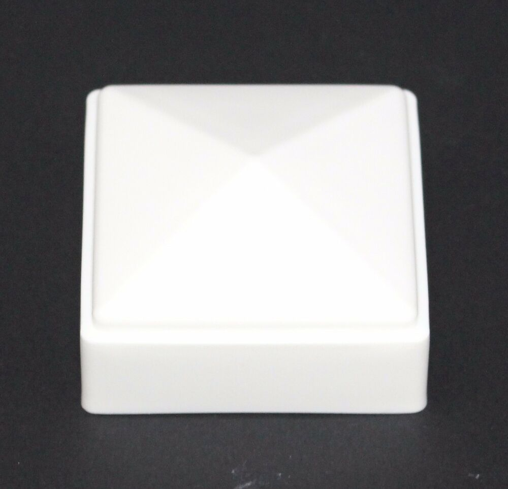 Plastic Fence Post White Caps 2 X 2 For Metal Plastic Or