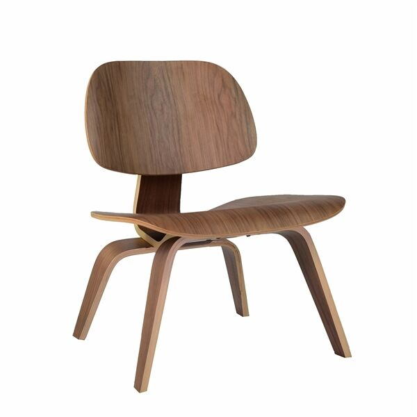 eames style molded plywood lounge chair midcentury modern lcw ebay