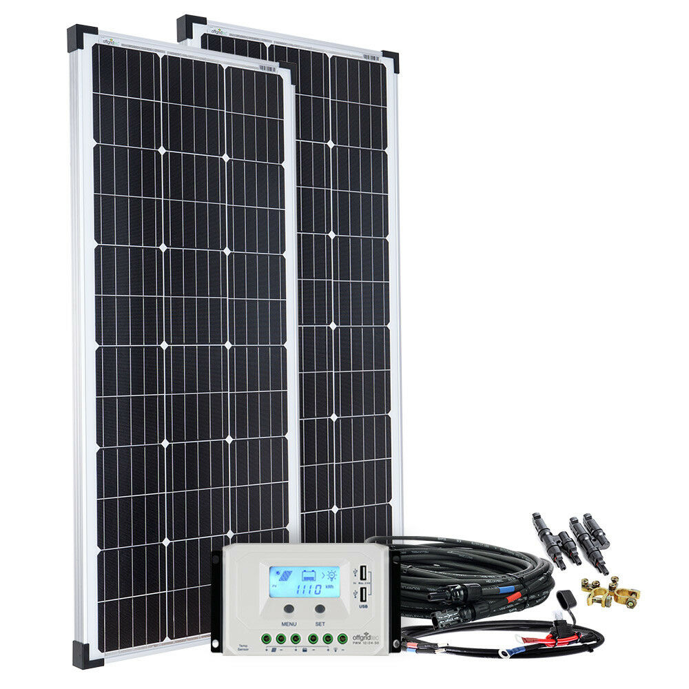 200 watt solaranlage basic xl 200w 12v garten. Black Bedroom Furniture Sets. Home Design Ideas