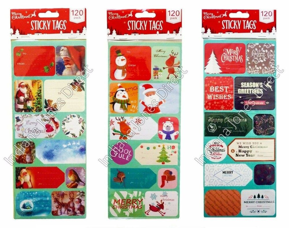 Christmas Quotes And Sayings Glitter Sticker Decal: CHRISTMAS GIFT TAGS 100+ STICKERS SELF ADHESIVE LABEL