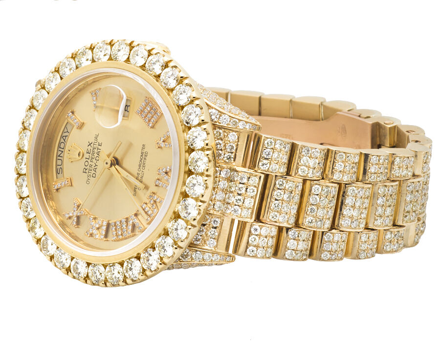 Gold Rolex Watches For Men With Diamonds