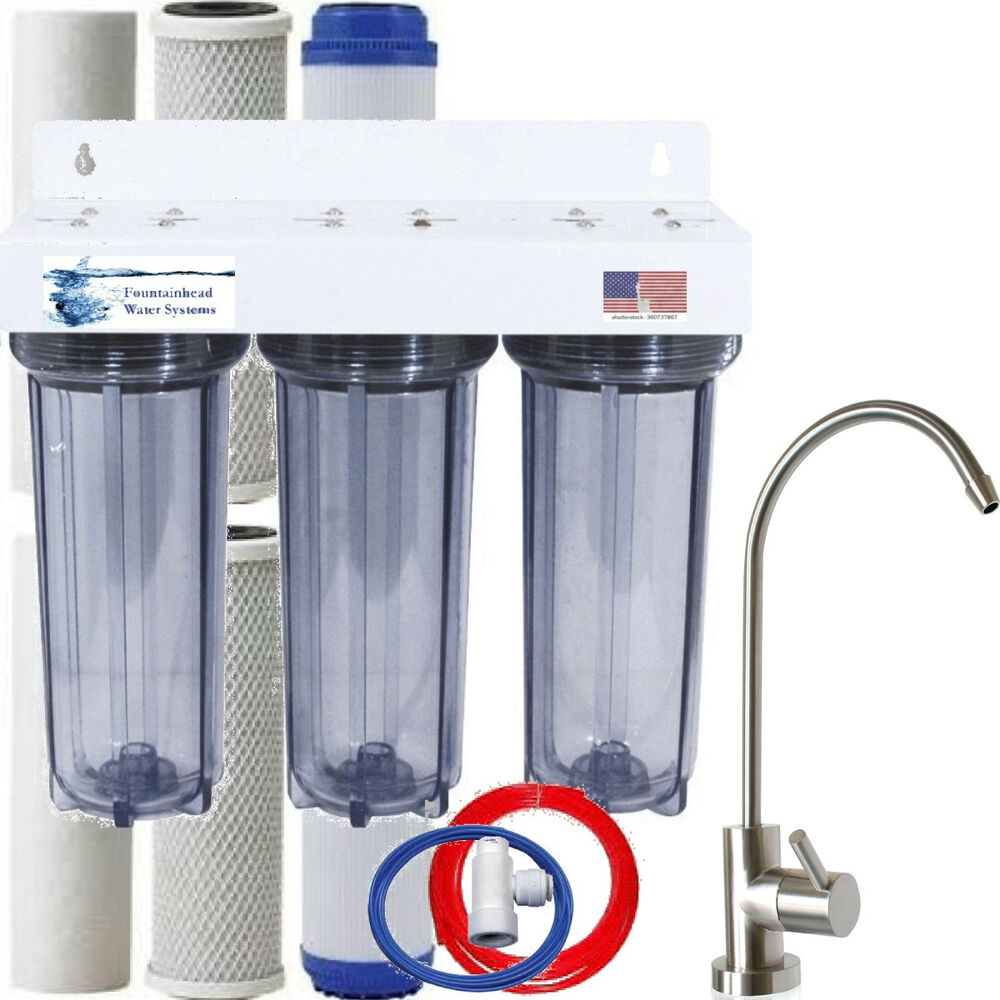 clear 3 stage under sink water filter extra filters