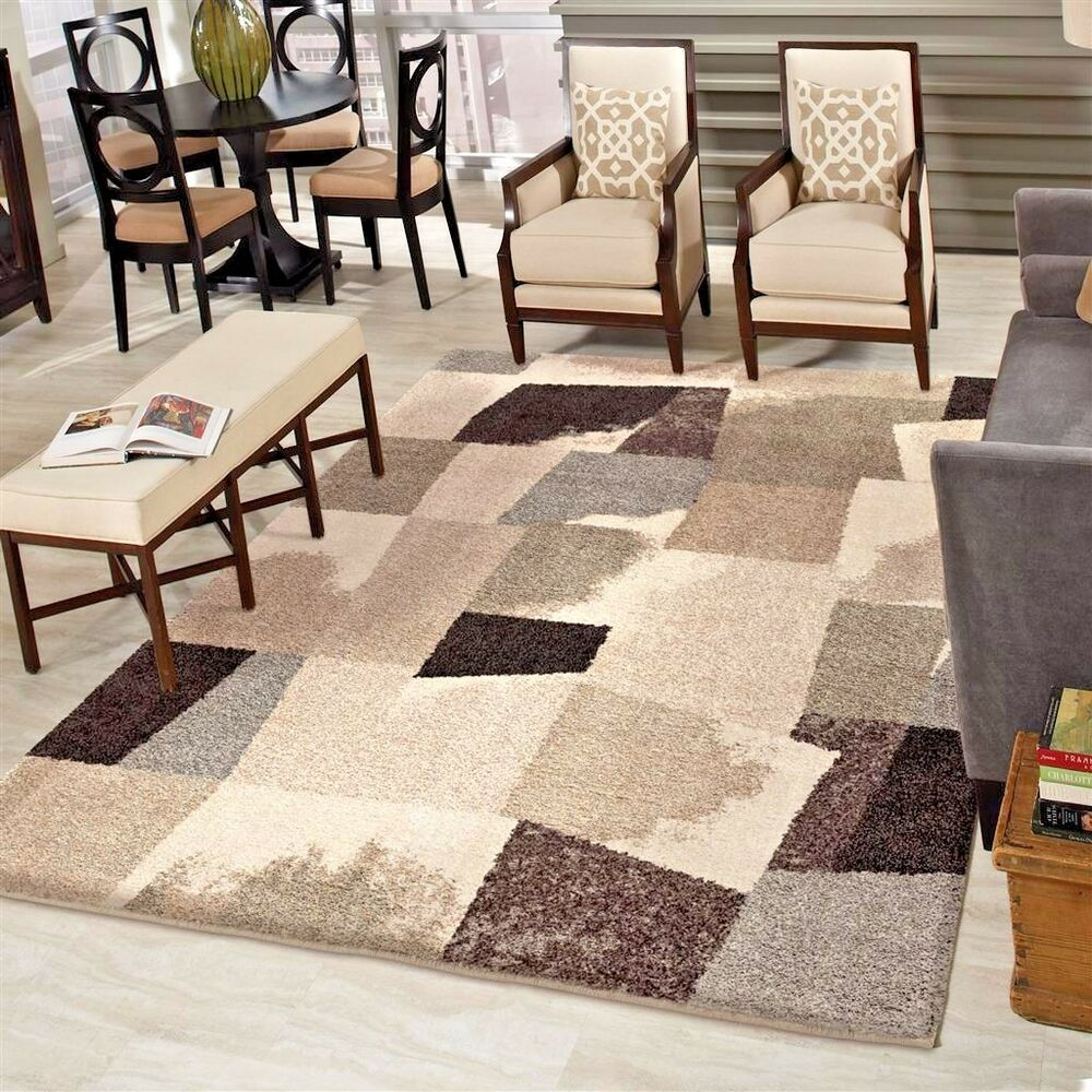 Rugs area rugs 8x10 area rug living room rugs modern rugs plush soft thick rugs ebay How to buy an area rug for living room
