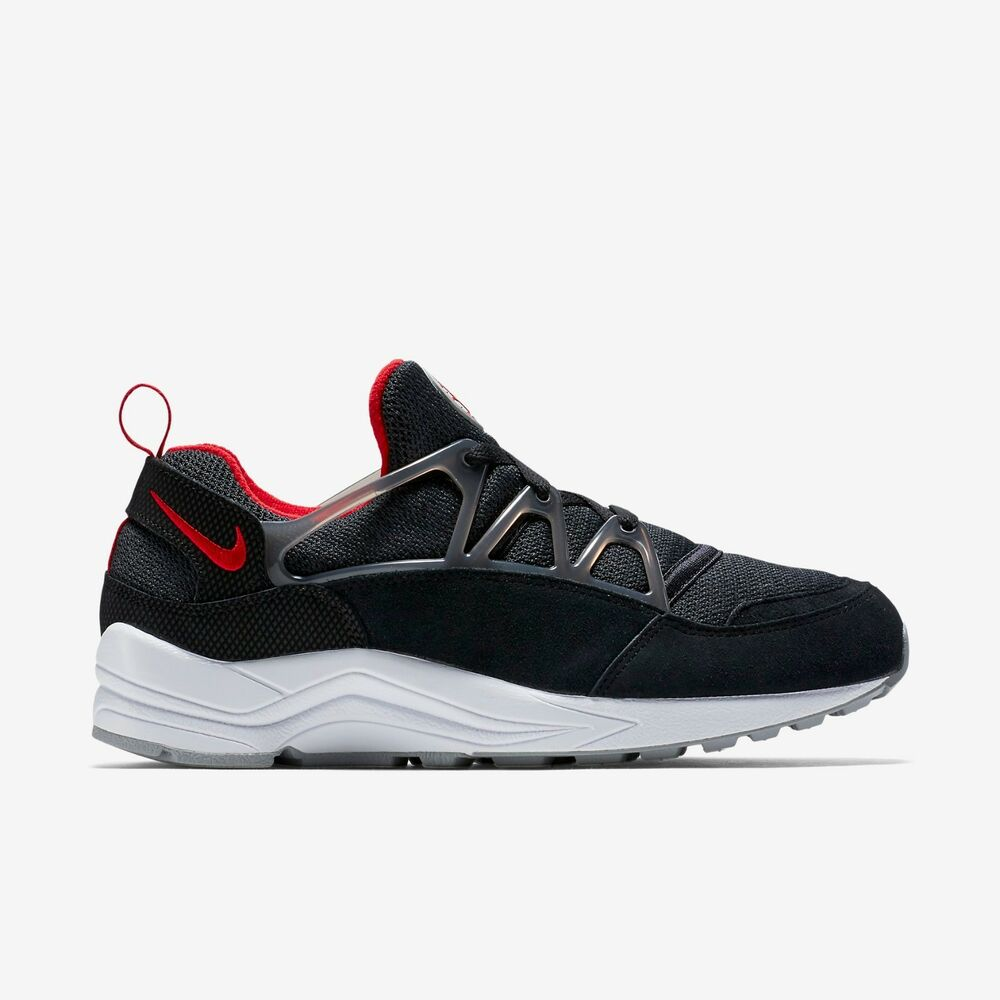 22a999eaa14f0 Details about New Nike Men s Air Huarache Light Shoes (306127-006) Black Wolf  Grey Univ Red
