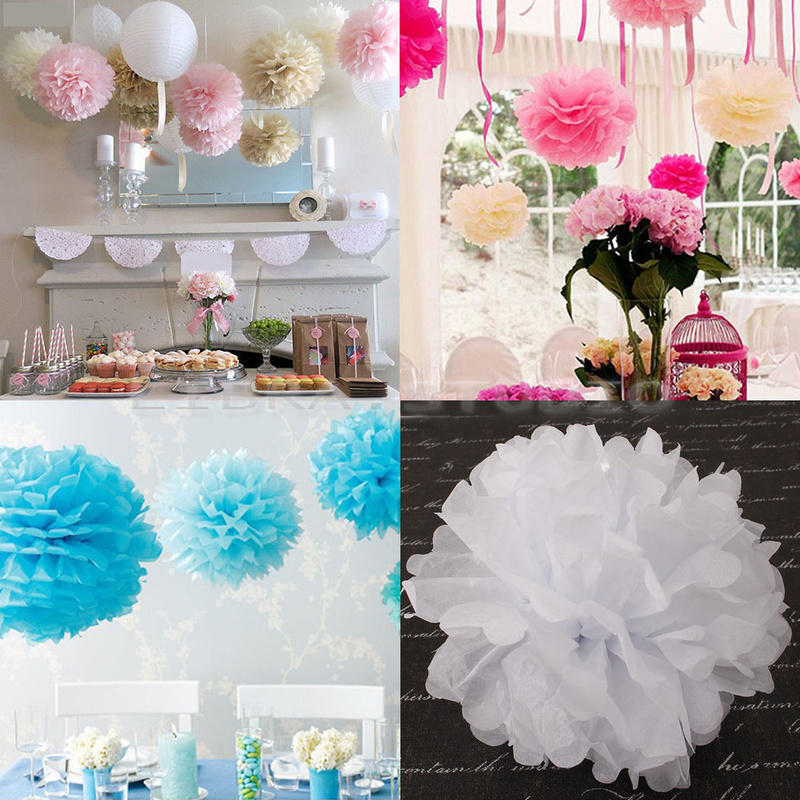 10 pcs paper flower balls wedding party home birthday - Home decoration with paper ...