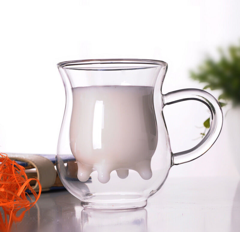 ctreative double wall clear glass cup tea milk cup mug coffee glass cup gift ebay. Black Bedroom Furniture Sets. Home Design Ideas
