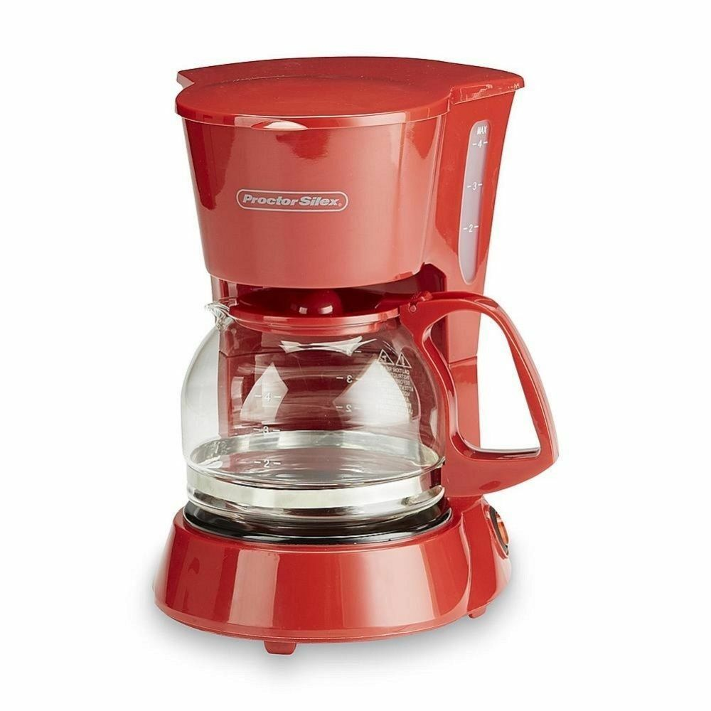 Easy One Cup Coffee Maker : Automatic Coffee Maker 4 Cup Morning Coffee Drink Compact Home Office Machine eBay
