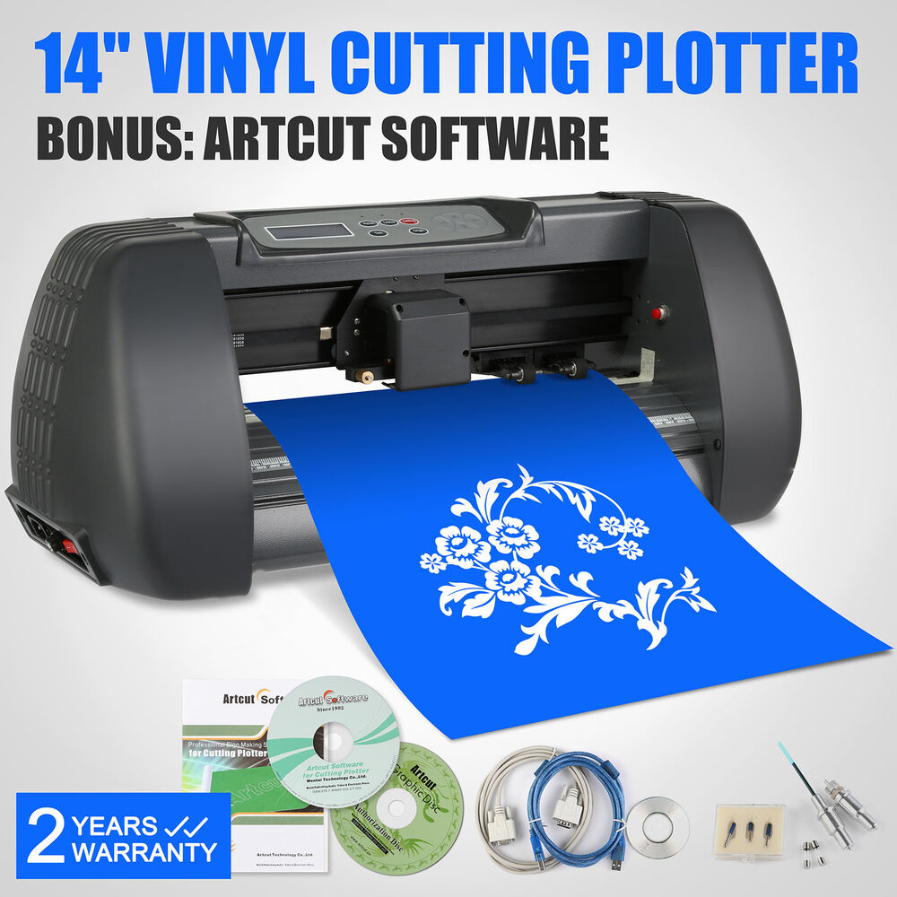 vinyl sign sticker cutter plotter machine 14 with contour cut 3 blades ebay. Black Bedroom Furniture Sets. Home Design Ideas