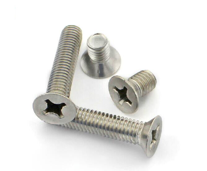 Countersunk flat head cross recessed screw bolts m