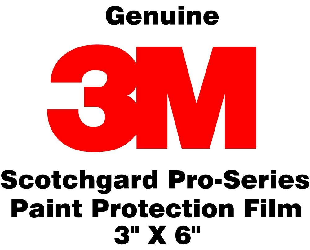 """Scotchgard Paint Protection Film Pro Series >> 3M Scotchgard Paint Protection Film Pro Series (Sample Size Pack of 5) 3"""" x 6"""" 