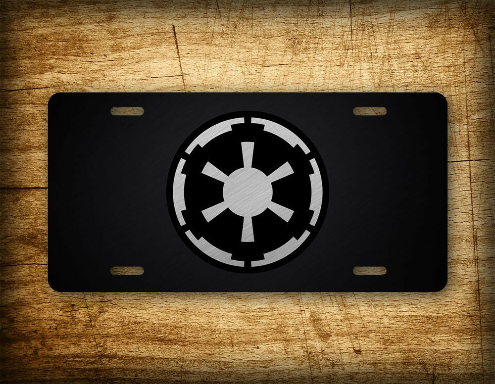 Aluminum License Plate Frame >> Star Wars License Plate Galactic Empire Emperial Seal Darth Vader Movie Republic | eBay