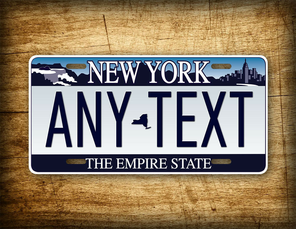 Customized License Plates >> New York Personalized License Plate ANY TEXT Custom Customized Auto Tag NY State | eBay