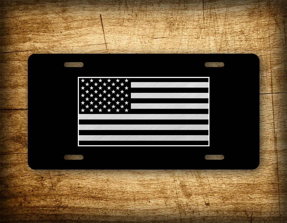Tactical American Flag License Plate Patriotic Usa Auto