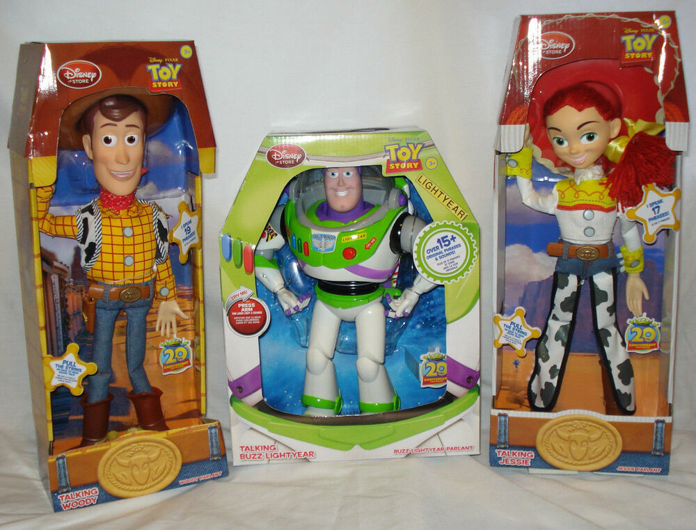 disney toy story lot of 3 talking woody jessie buzz