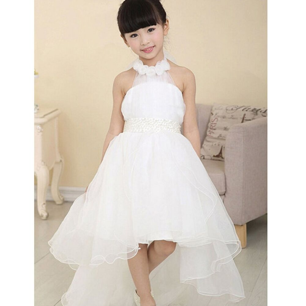 Flower girl princess dress toddler baby wedding party for Toddler dress for wedding