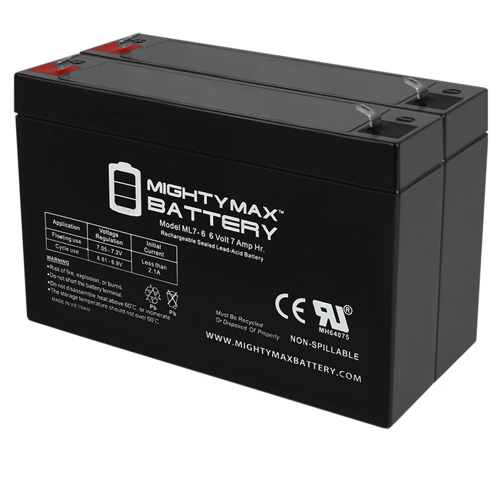 Mighty Max 6v 7ah Battery For Gallagher S17 Solar Fence