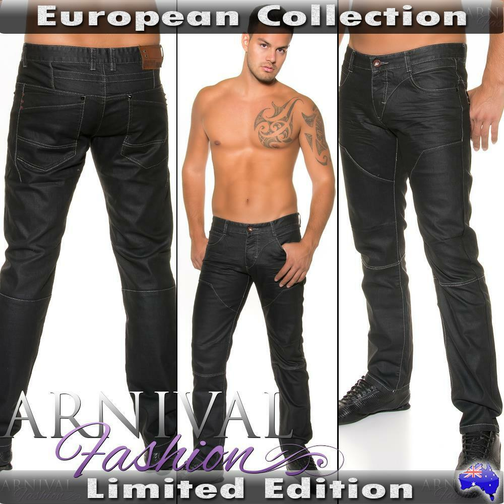 New Shiny Black Jeans For Men Casual Wear Mens Fashion
