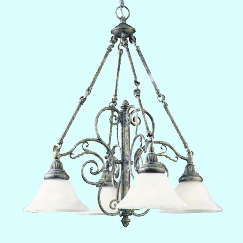 Dining Room Ceiling Light Fixtures: CHANDELIER Antique Pewter 4 Light Ceiling Lighting Fixture