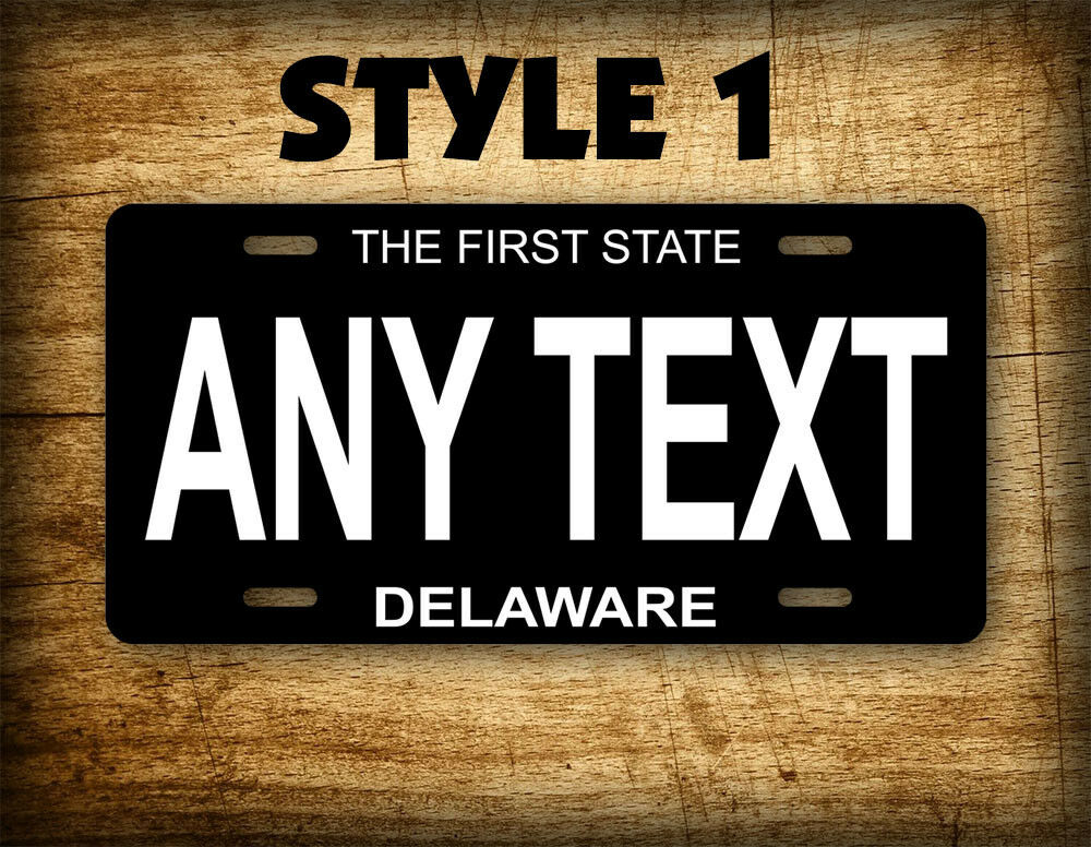 Customized License Plates >> Delaware Black Porcelain License Plate Antique ~CUSTOM~ Replica Vintage Auto Tag | eBay