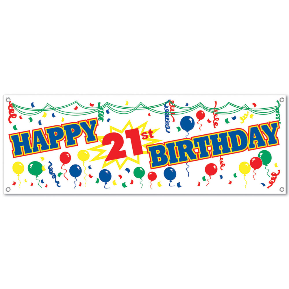 21st Birthday Party Decoration Happy 21st Birthday SIGN