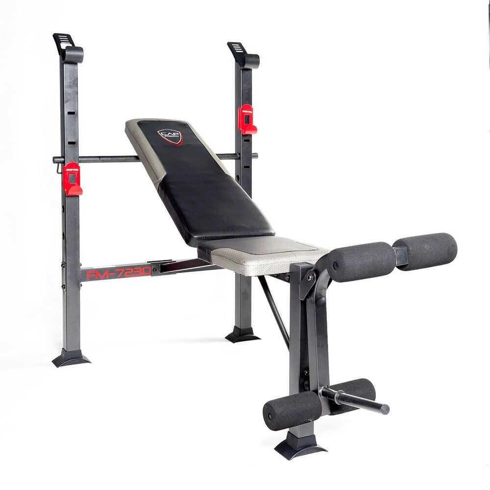 Weight Lifting Bench Press Home Gym Barbell Pro Fitness Equipment Adjustable New Ebay