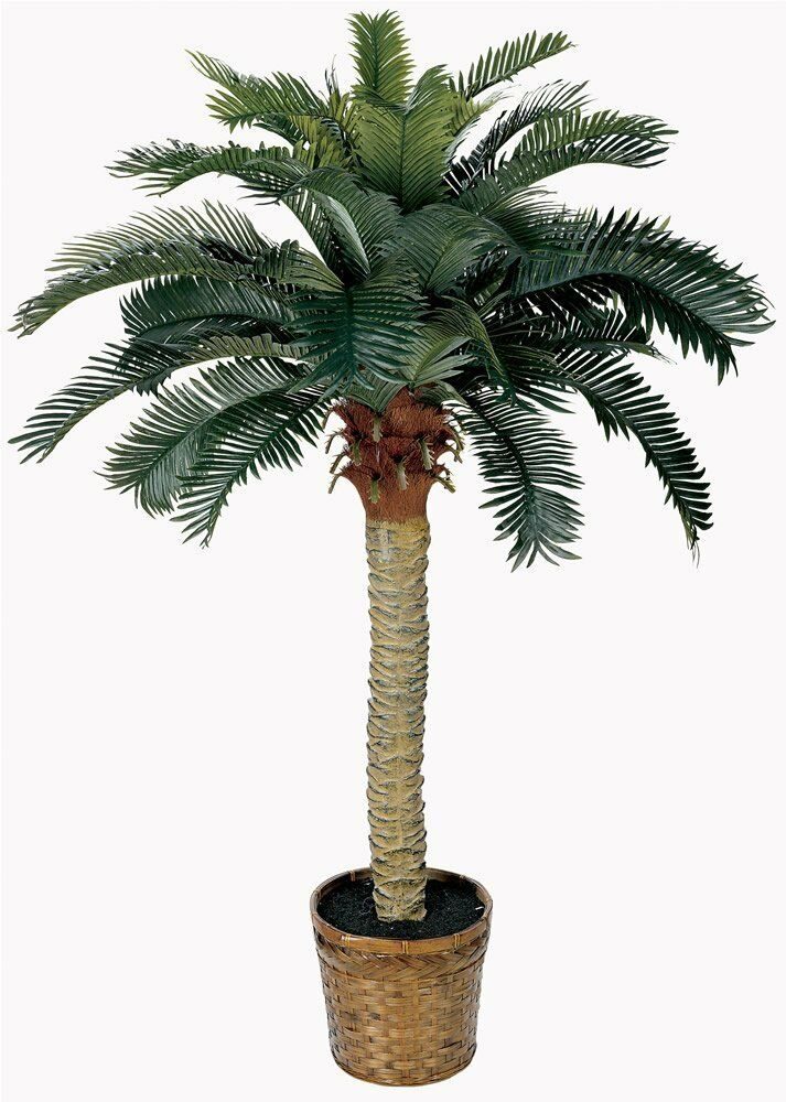fake palm tree 4 feet tall artificial potted plant tropical decor nearly natural ebay. Black Bedroom Furniture Sets. Home Design Ideas