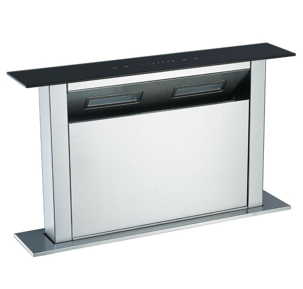 kitchen island extractor fan cookology cdd600bk 60cm kitchen island downdraft extractor 19723