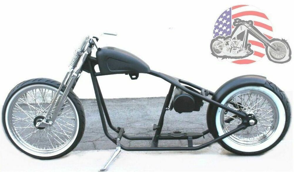 rigid hardtail springer bobber chopper rolling chassis frame harley kit roller fits more than