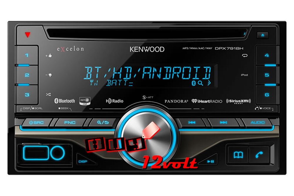 kenwood excelon dpx791bh 2 din cd receiver with built in. Black Bedroom Furniture Sets. Home Design Ideas
