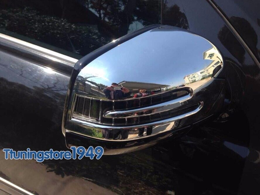 Chrome side door mirror cover trim mercedes benz w166 ml for Mercedes benz chrome accessories