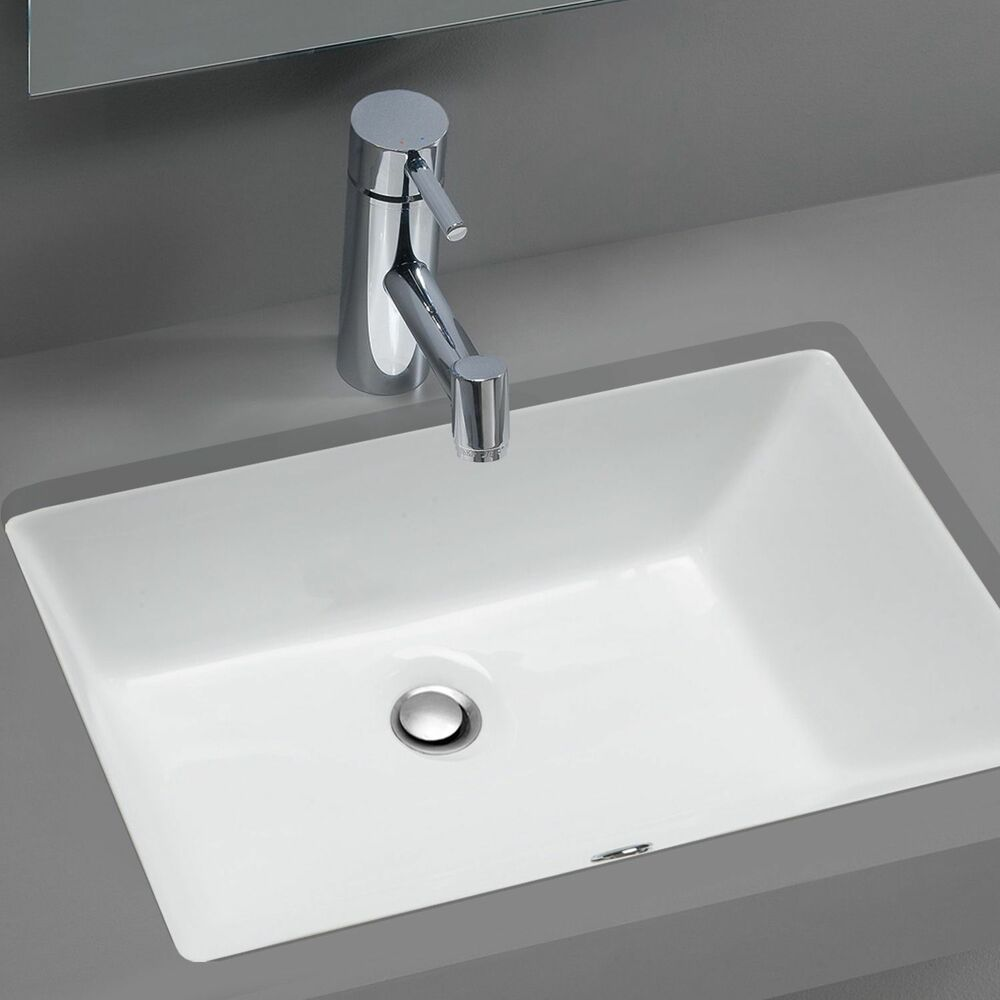 Stahl Ceramic Medium Undermount Rectangular Bowl Bath Sink