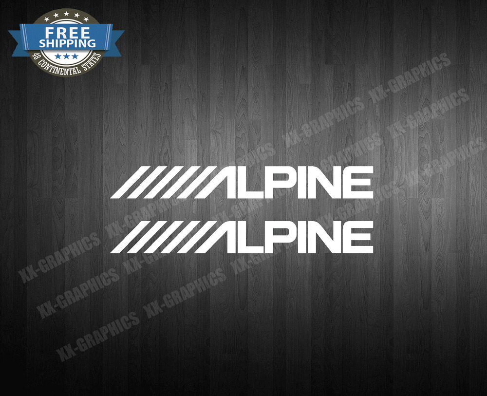 Alpine 2x 8 Quot Car Audio Speakers Stereo Amplifier Sounds Decal Sticker Stickers Ebay