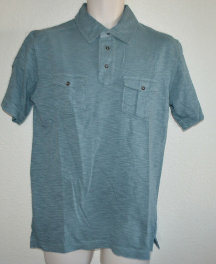 Nwt mens northwest territory knit short sleeve 3 button for Mens collared henley shirt
