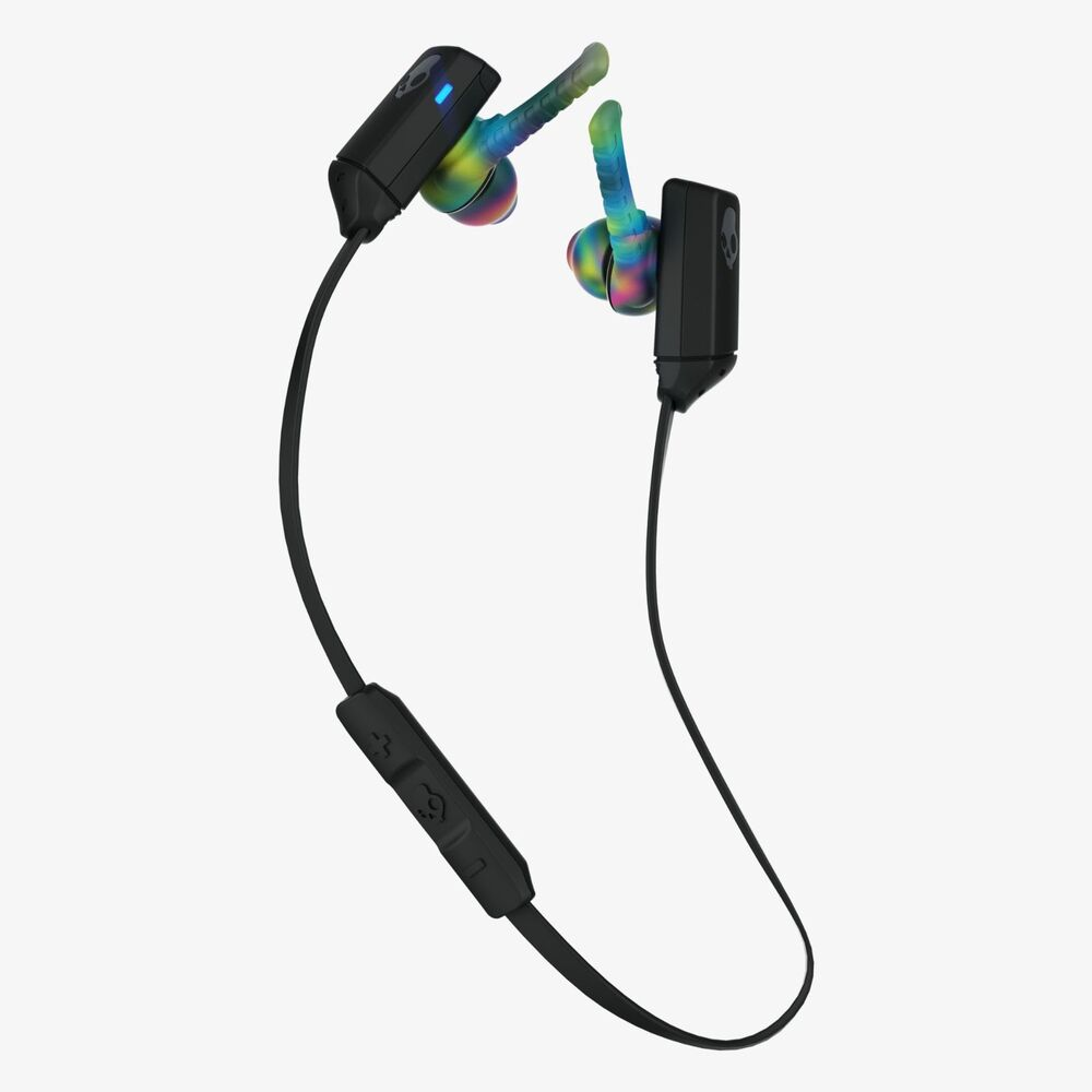 In-line microphone for answering calls hands-free Built-in remote with one-button call and track control Skullcandy Method Wireless In Ear Headphones - Navy/Blue/Blue.