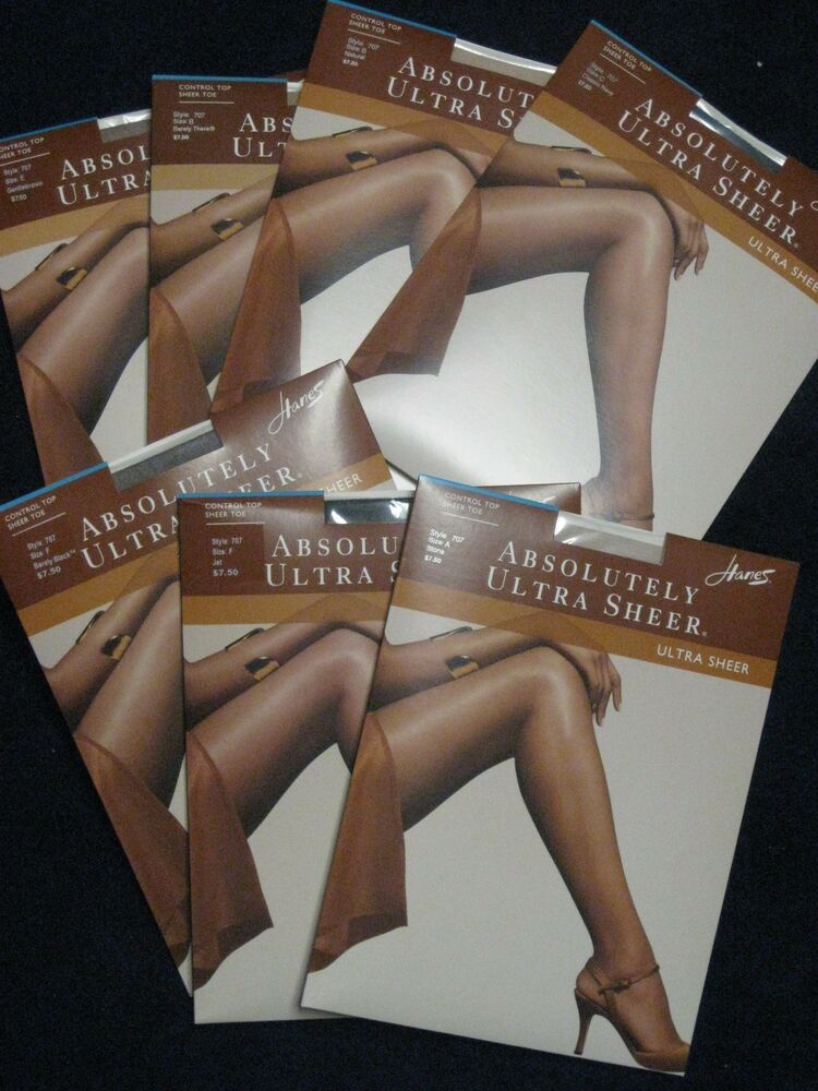 4c4f310c5 Details about Hanes Absolutely Ultra Sheer Control Top Sheer Toe Pantyhose  Style 707