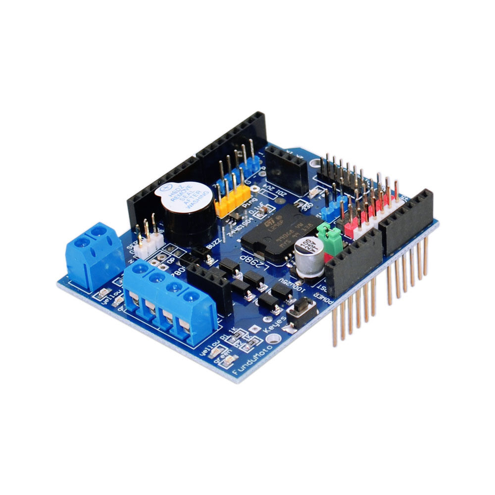 Keyes l298p 2a 2 way dc motor driver shield for arduino uno mega2560 ebay Arduino mega 2560 motor shield