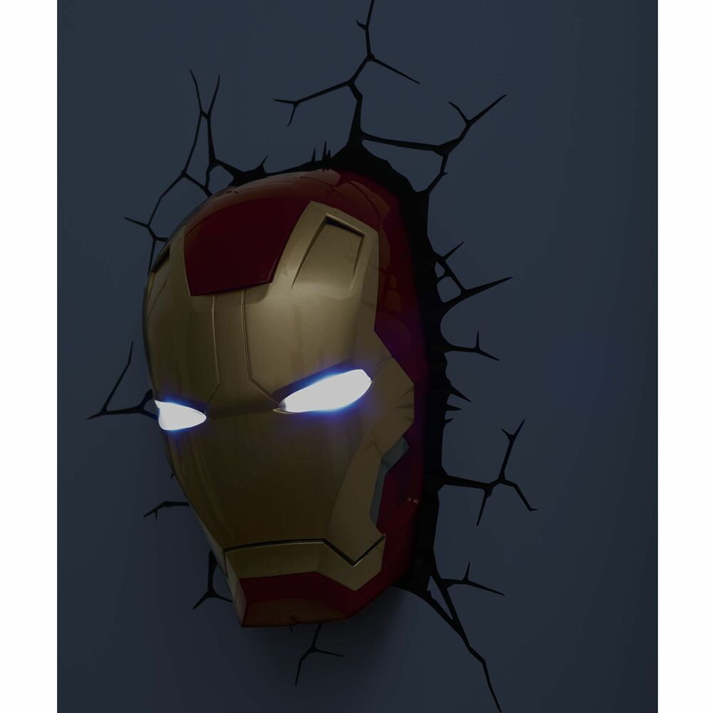 MARVEL IRON MAN 3D LED WALL LIGHT LAMP NEW + STICKERS AVENGERS MASK eBay