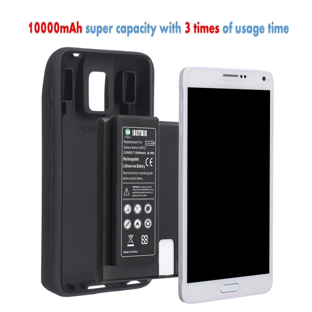 ibestwin 10000mah extended battery for samsung galaxy note 4 tpu case cover ebay. Black Bedroom Furniture Sets. Home Design Ideas