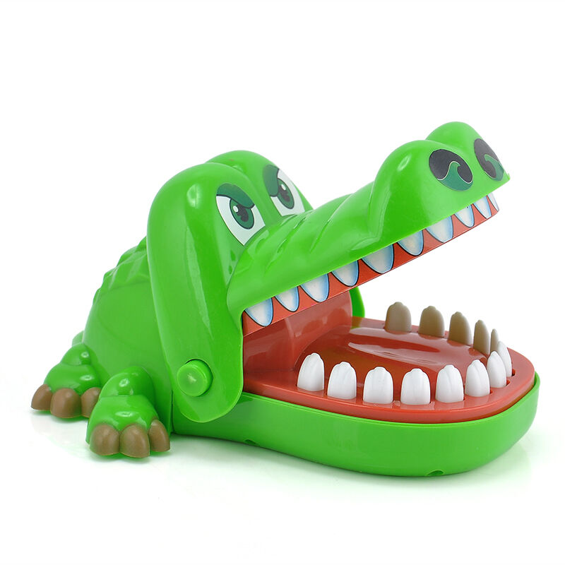Toys For Biting : New funny big crocodile mouth dentist bite finger game toy