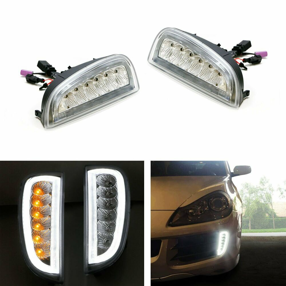 clear led daytime running lights turn signal lamp for 2007. Black Bedroom Furniture Sets. Home Design Ideas