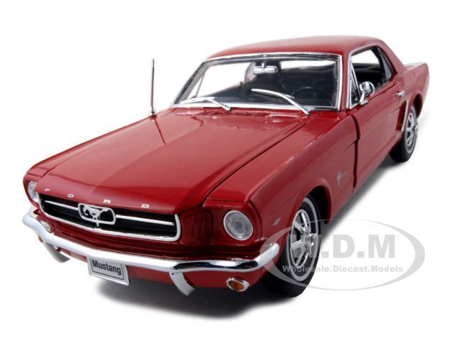1964 1 2 ford mustang red hard top 1 18 diecast model car by welly 12519 ebay. Black Bedroom Furniture Sets. Home Design Ideas