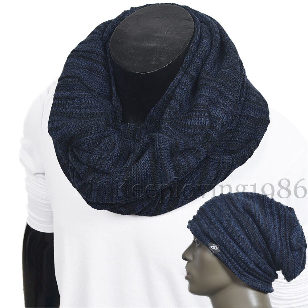 classical knit infinity scarf soft neckerchief winter