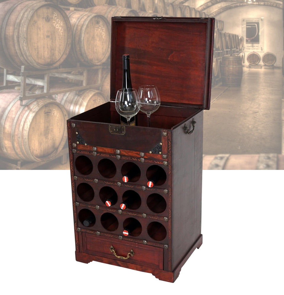 bodega 2 weinschrank f r 12 flaschen weinregal servierwagen holz bar regal 36637 ebay. Black Bedroom Furniture Sets. Home Design Ideas