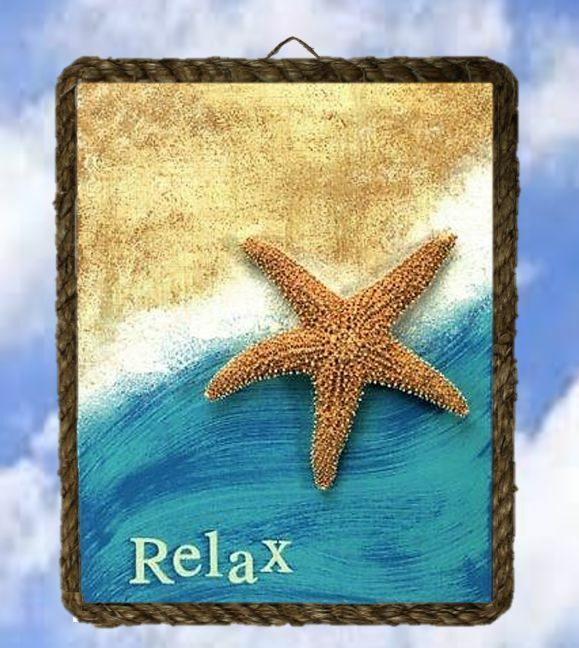 Ocean coastal 410 starfish relax wall decor art prints for Vintage ocean decor