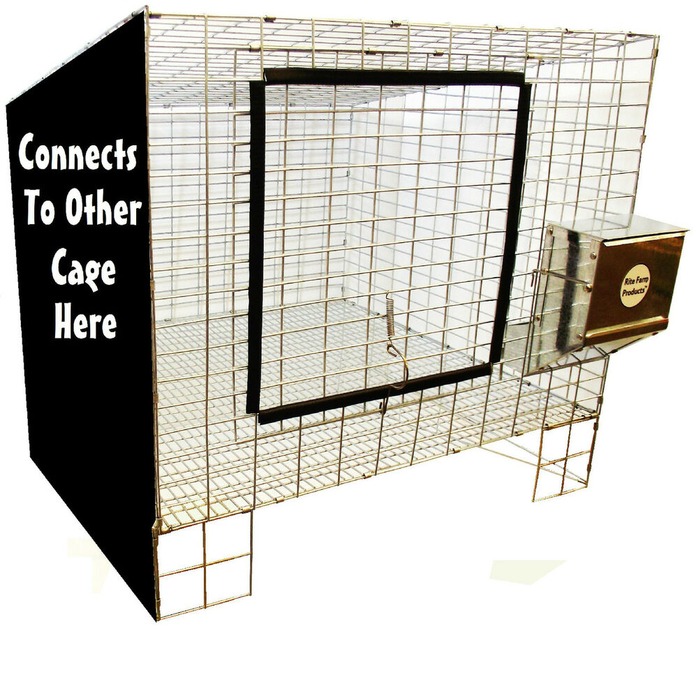 1 Rite Farm Products Add On 24 Quot X24 Quot Wire Rabbit Cage Bunny