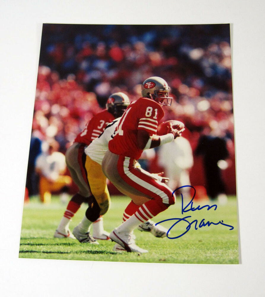 Russ Francis Signed 8 X 10 Photo Pose #2 49ers Auto