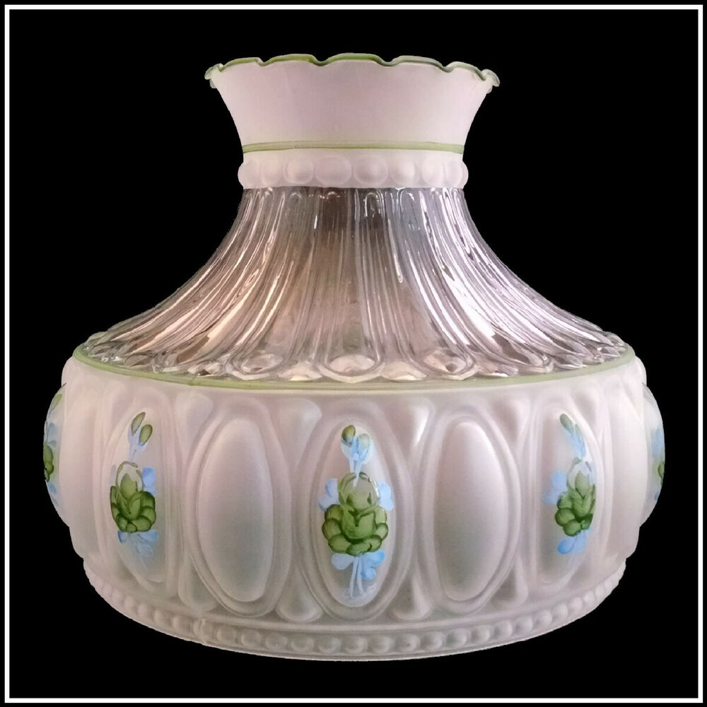 usa made m756 style green roses lamp shade fits aladdin. Black Bedroom Furniture Sets. Home Design Ideas