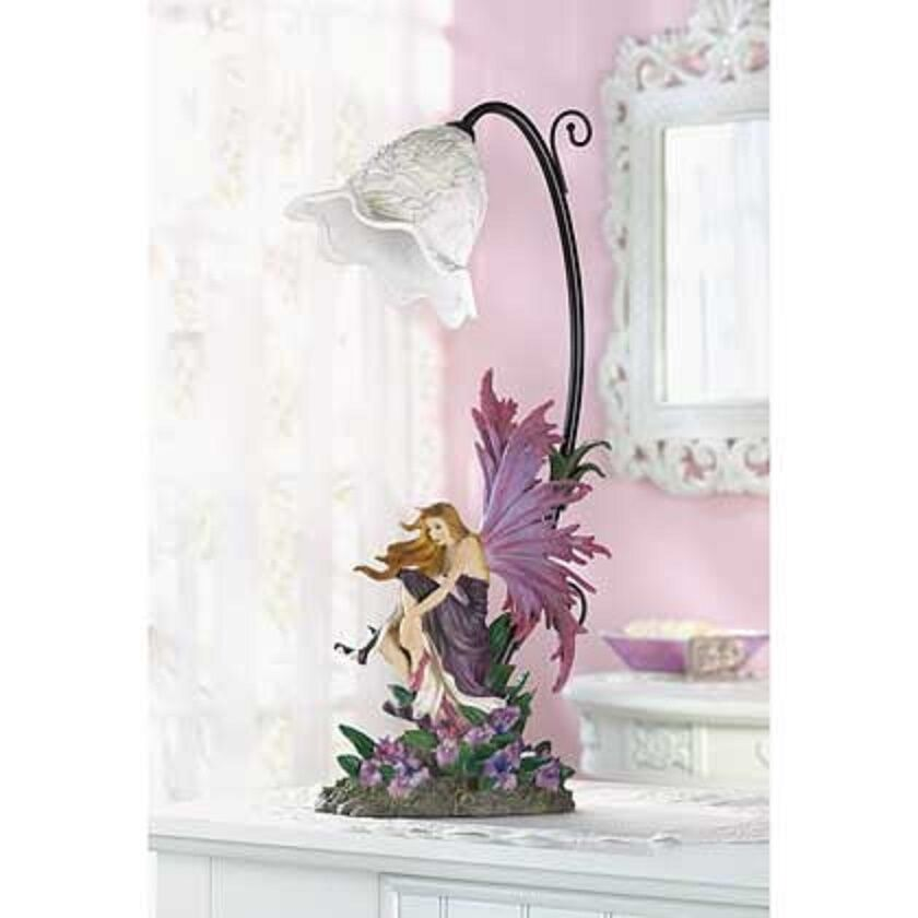 Purple Amp Pink Fairy Angel Princess Statue Table Girls