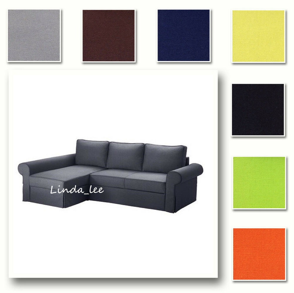 Custom made cover fits ikea backabro sofa bed with chaise for Chaise longue sofa bed ebay