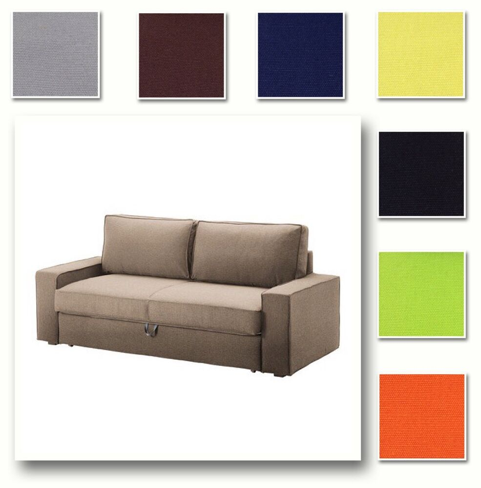 Custom made cover fits ikea vilasund three seat sofa bed for Sofa bed on ebay